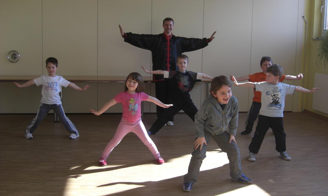 Kinder Probetraining der Kung Fu Schule Rowek